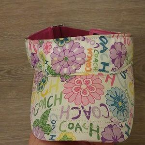 New Coach Floral Print Sun Visor One size